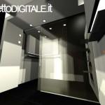 RENDER 3D FOTOREALISTICO DEL PROGETTO DI INTERNI DI UN UFFICIO IMMOBILIARE - UFFICIO DIREZIONE