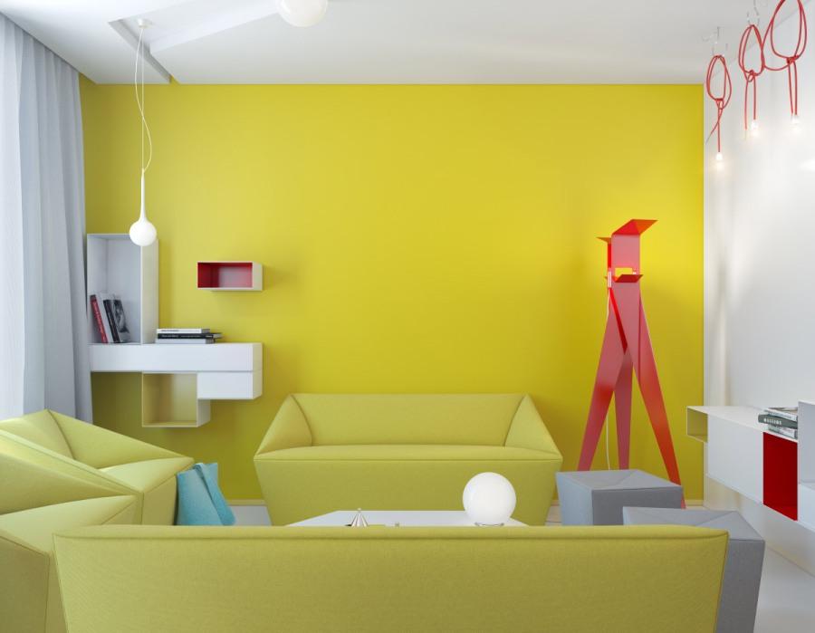 Pareti giallo senape gp58 regardsdefemmes for Dipingere soggiorno idee