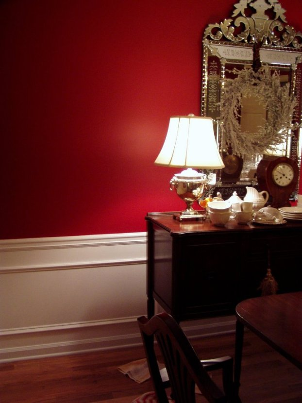 Two Tone Dining Room Colors