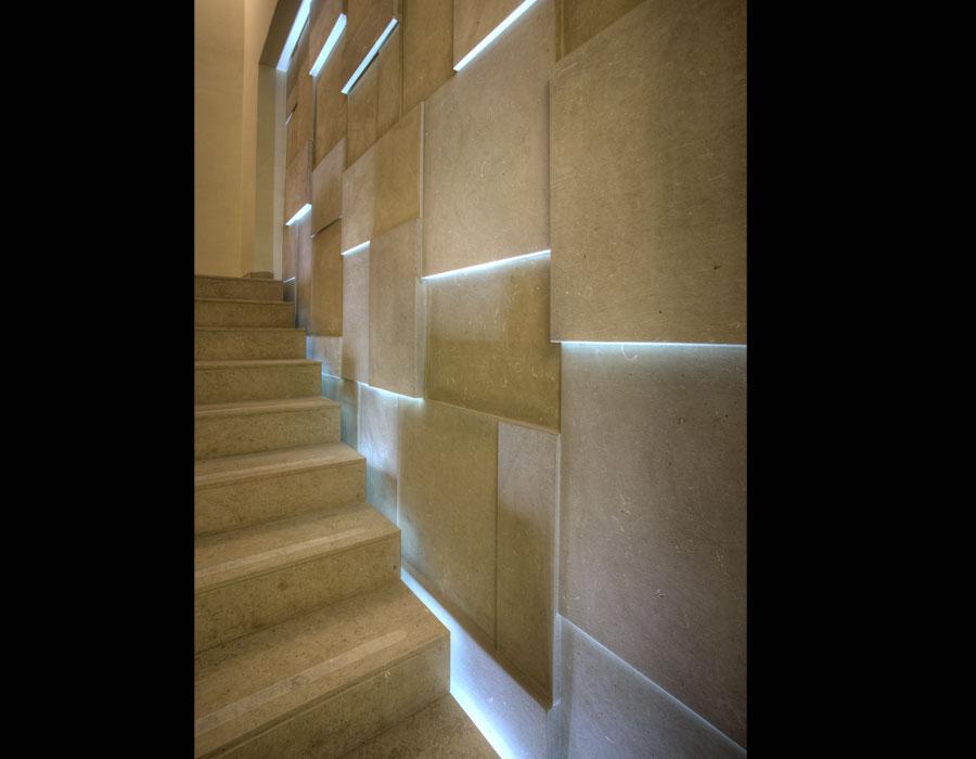 Pareti Esterne Illuminate : La pietra leccese negli interni architetto digitale