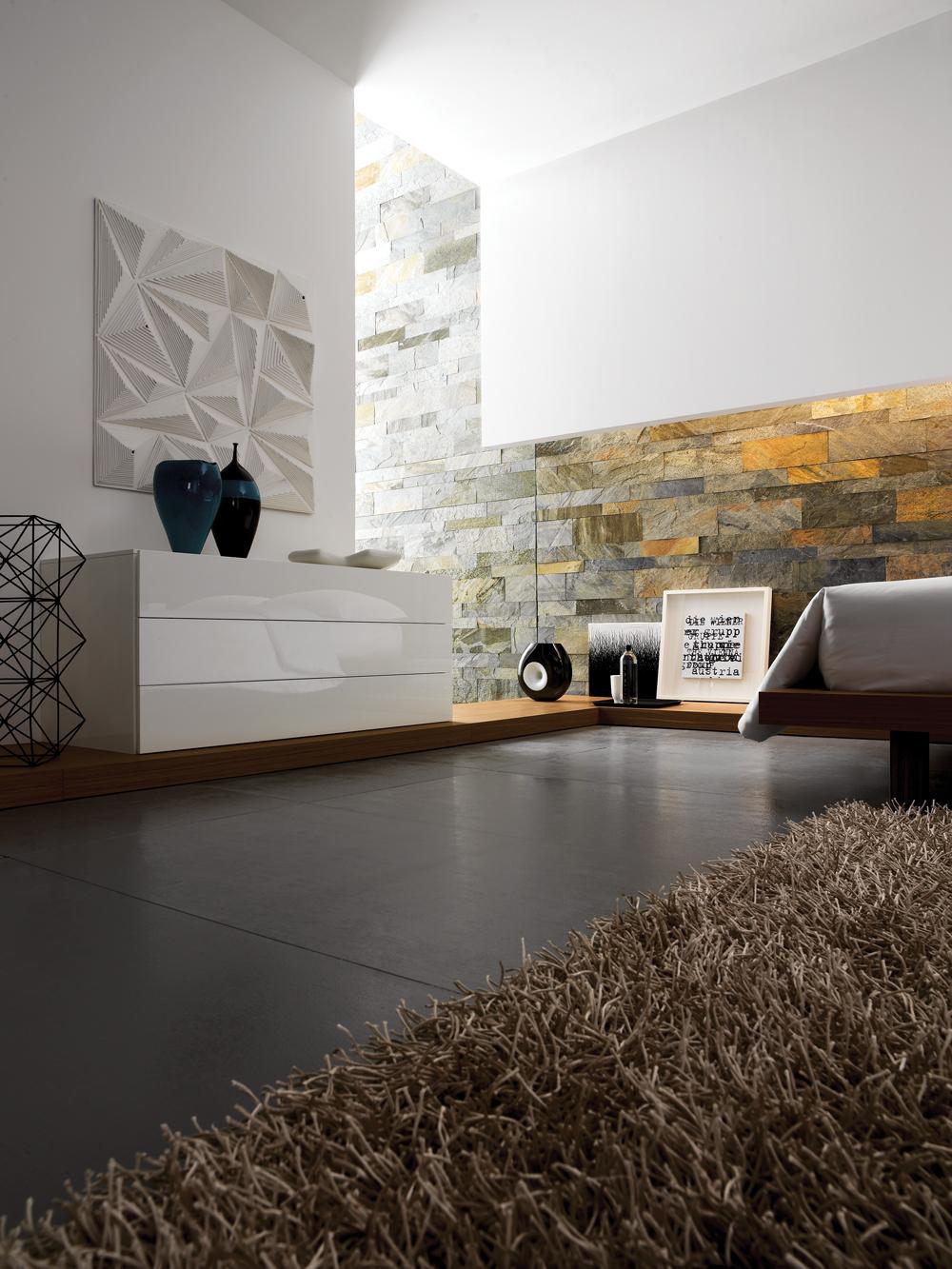 Rivestimento in pietra delle pareti architetto digitale - Pietra parete interna ...