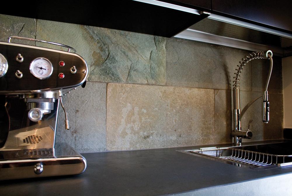 Top Cucina In Ardesia : Rivestimento in pietra delle pareti architetto digitale