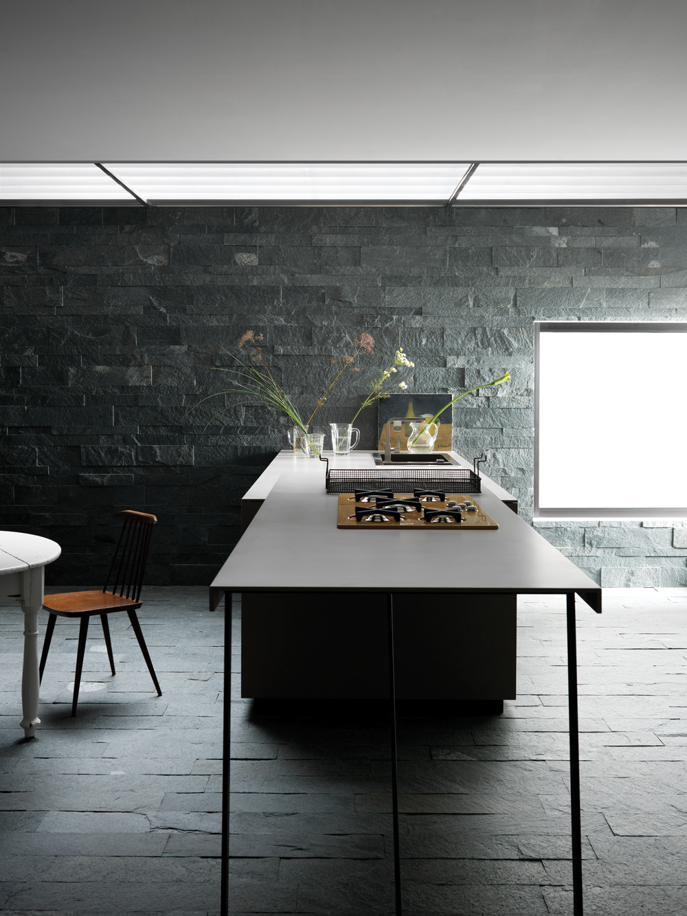 cucina in ardesia - Architetto DIGITALE