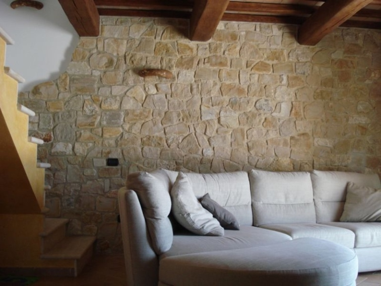 Rivestimento in pietra delle pareti architetto digitale - Rivestimenti legno interni ...