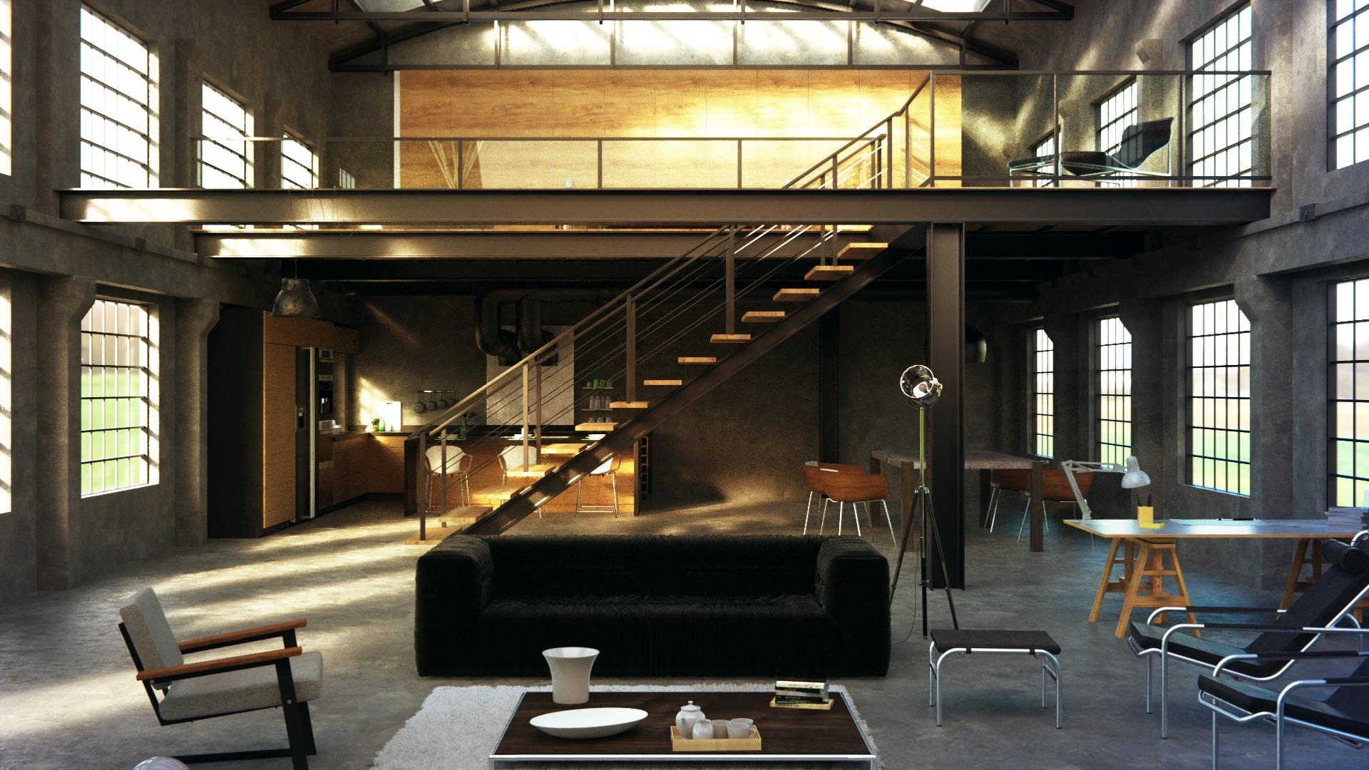 Soffitti Alti Soluzioni : Arredare un appartamento come un loft architetto digitale