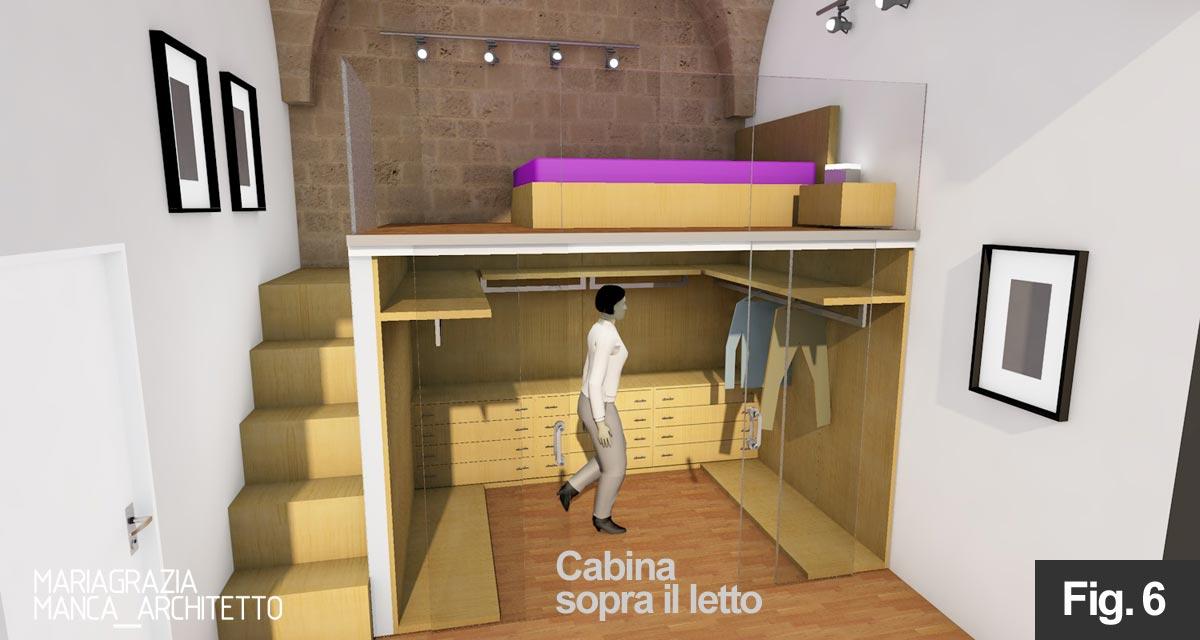 Letto a soppalco con cabina armadio gb77 regardsdefemmes for Cabina armadio dietro il letto
