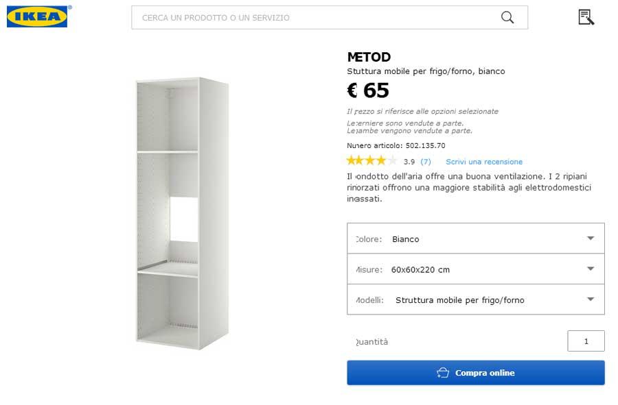 Mobili Cucina Ikea Misure.Ikea Mobili Per Cucina Ed Elettrodomestici