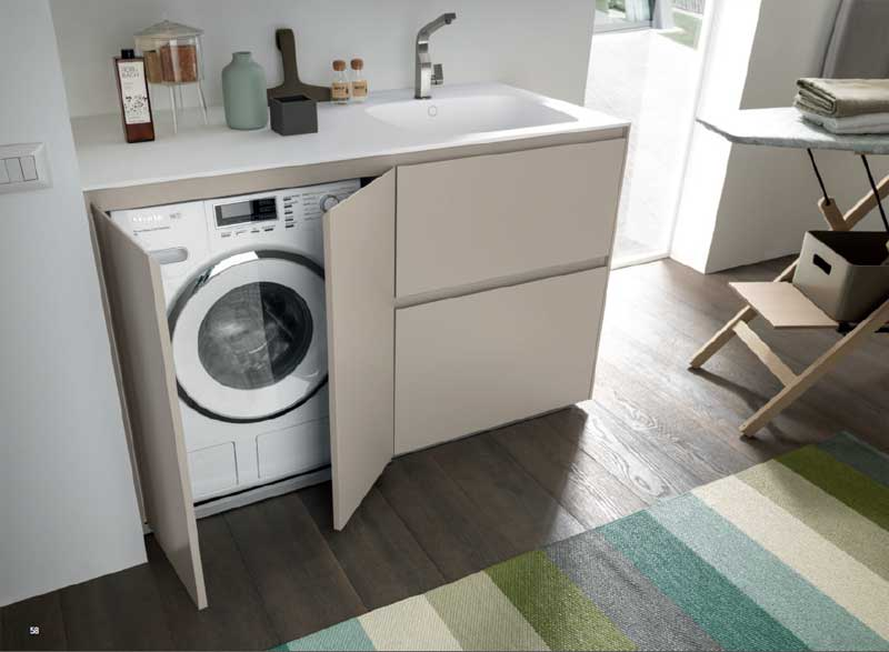 Lavatrice incassata nel bagno architetto digitale - Mobile bagno con lavatrice ...