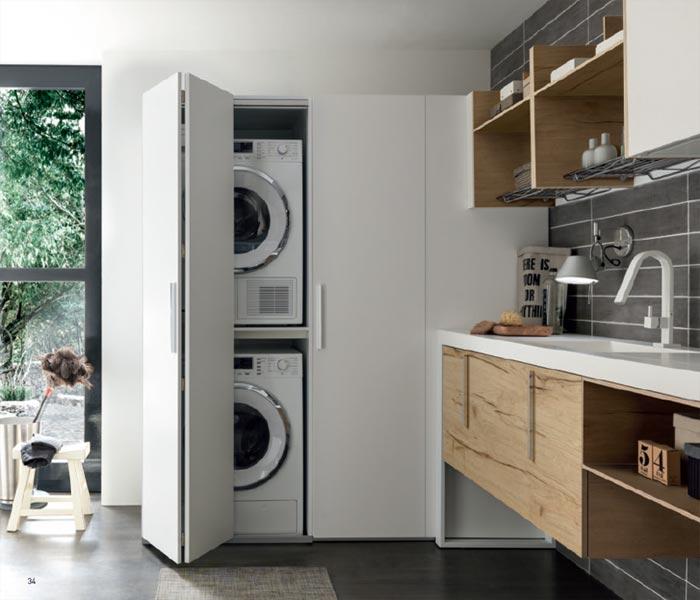 Integrare gli elettrodomestici nell 39 arredamento architetto digitale - Mobile lavatrice asciugatrice ...