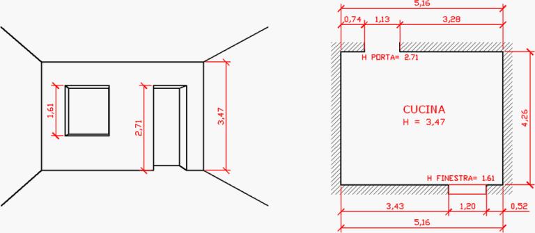 Come misurare casa architetto digitale - Altezza parapetto finestra ...