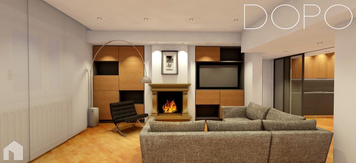 Interni di abitazioni architetto digitale for Esempi di ristrutturazione appartamento