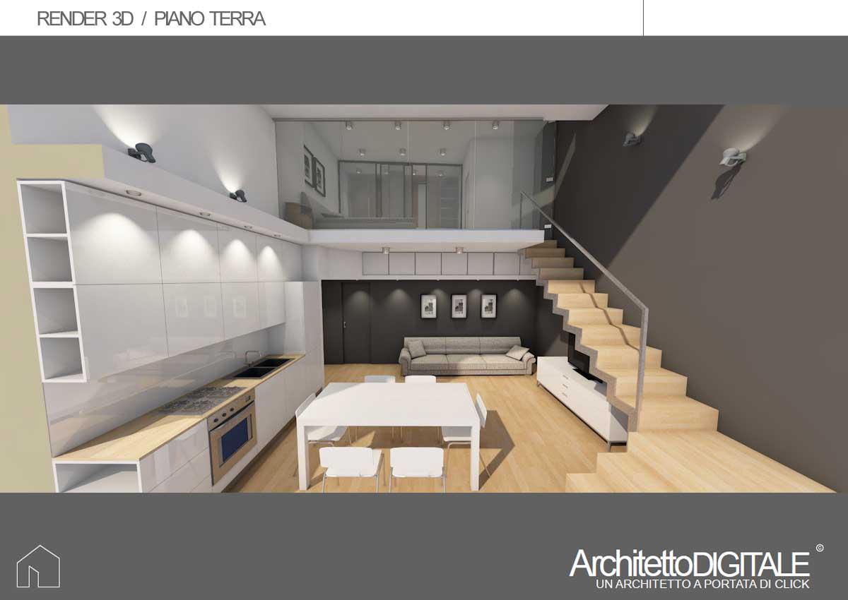 Sito Per Progettare Casa progetto di una casa con soppalco   architetto digitale