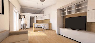 render 3d open space